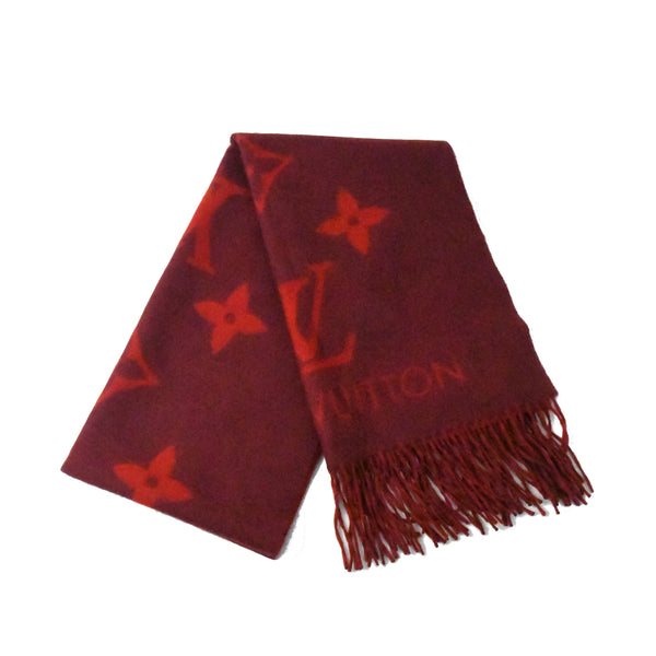 Double Sided Large Scarf Dark Red
