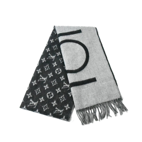 Monogram Split Scarf Black