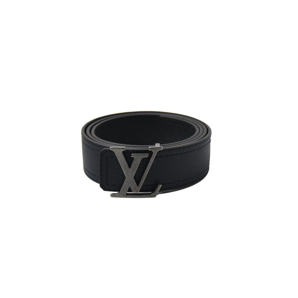 Initiales 40mm Reversible Belt Navy Black