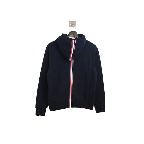 Back Striped Hoodie Navy