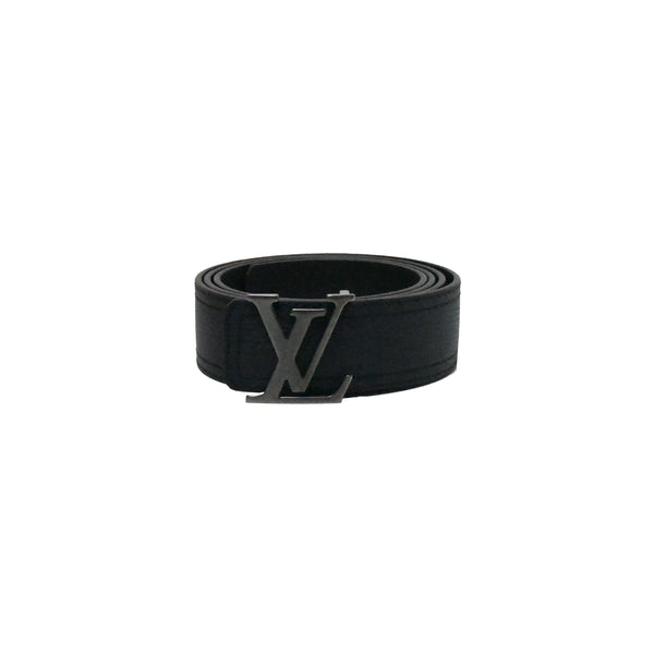 LV Brushed Buckle Belt Black