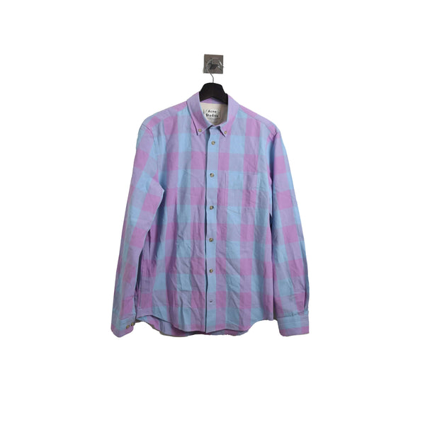Bottom Up Flannel Shirt Blue Pink