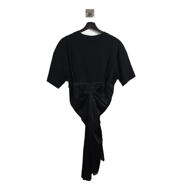 Silk Dress T-Shirt Black