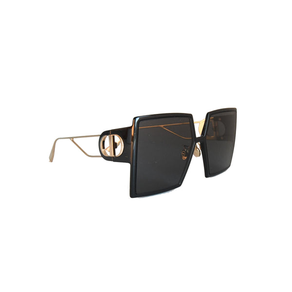 30Montaigne Black Square Sunglasses