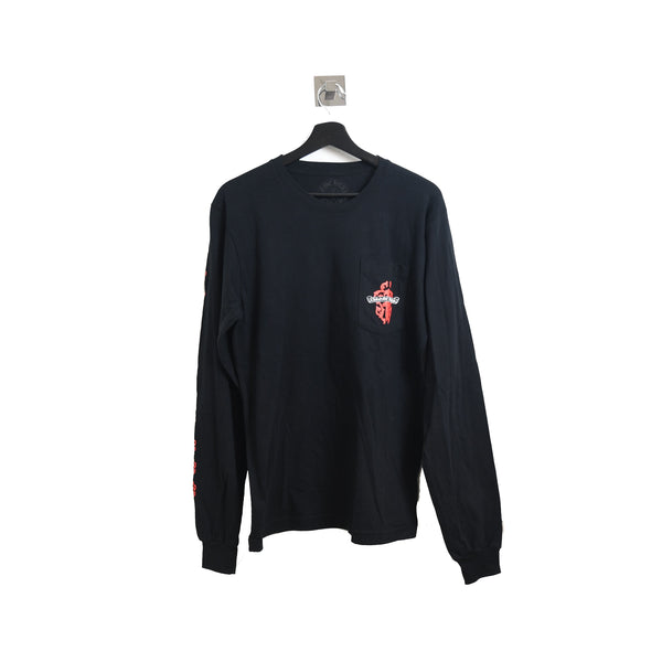 Chrome Hearts Red Sword Icon Long Sleeve Tee Black