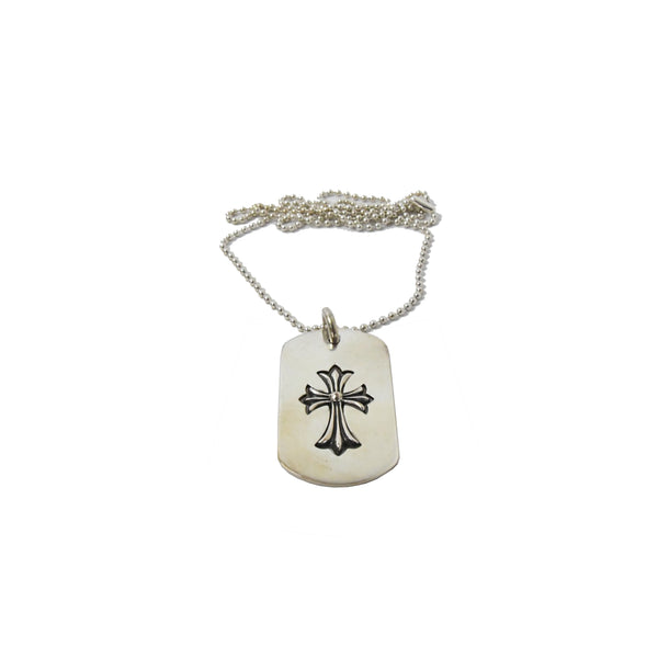 Chrome Hearts Silver Cross Necklace