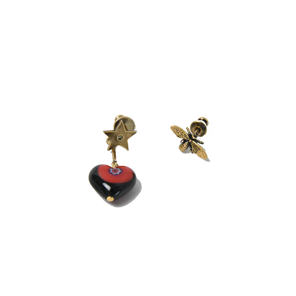 Star Bee Heart Earring