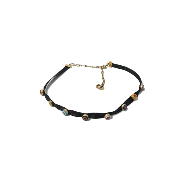 Multi-Color Deco Choker Black