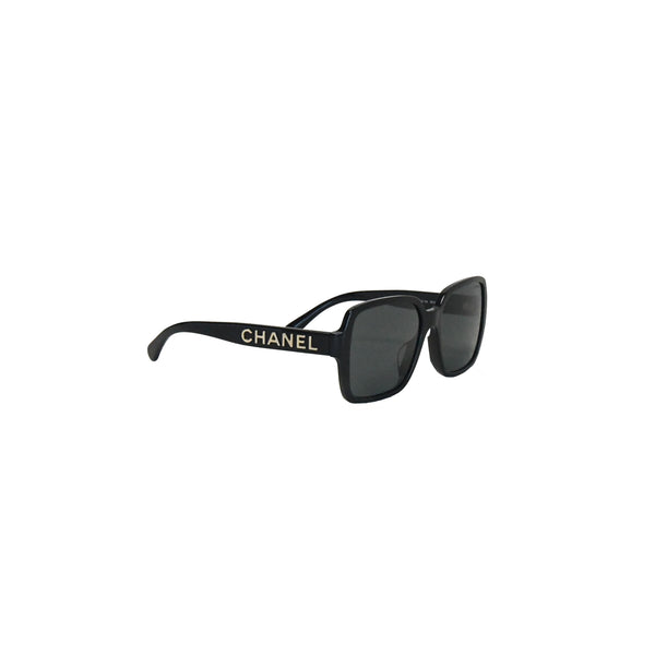 Chanel Sqaure Frame Sunglass Black