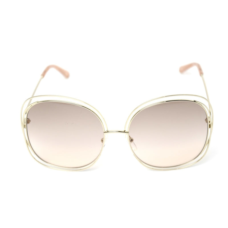 Carlina Trimmed Round Sunglasses /Gold-Transparent Peach