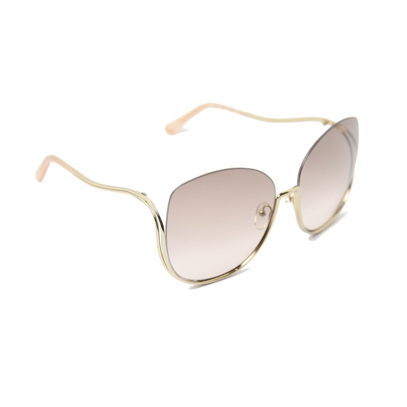 Milla Oversize Butterfly Sunglasses /Gold-Peach