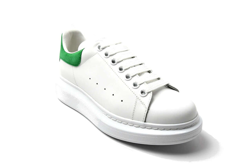 Oversized Calfskin Sneaker Green-White 45