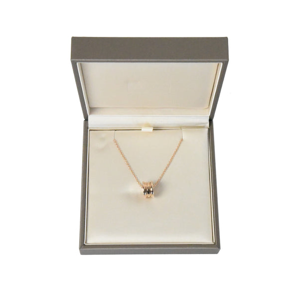 B.Zero1 Necklace Small Round Pendant 18kt Rose Gold