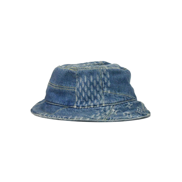 Louis Vuitton x Nigo Damier Giant Wave Monogram Hat Blue