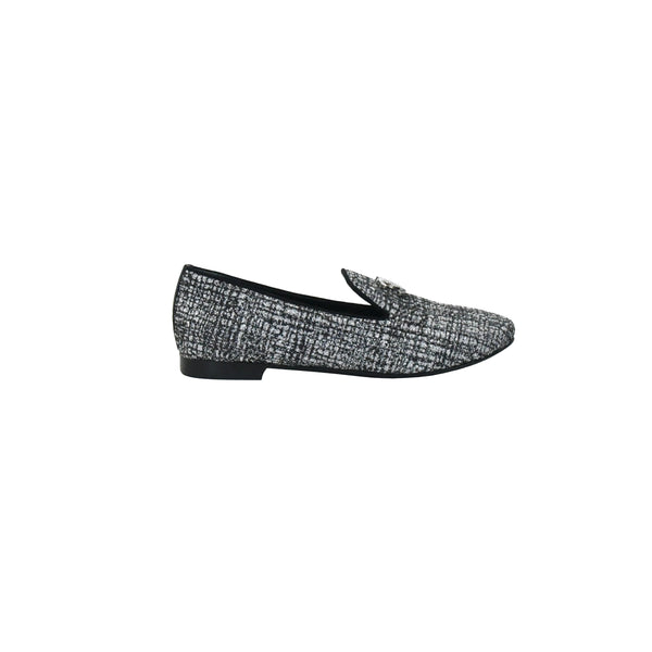 Chanel Mocassins Fantasy Loafer Silver Black