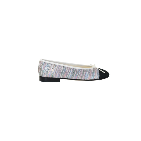 Chanel Tweed Flats Multi Iridescent Black