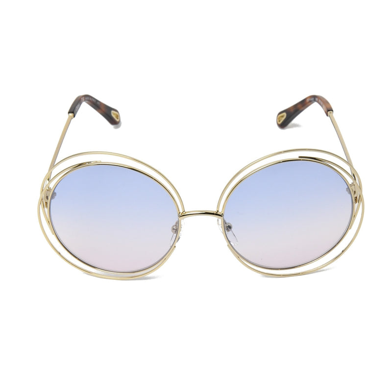 Round Sunglasses /Gold Havana Blue