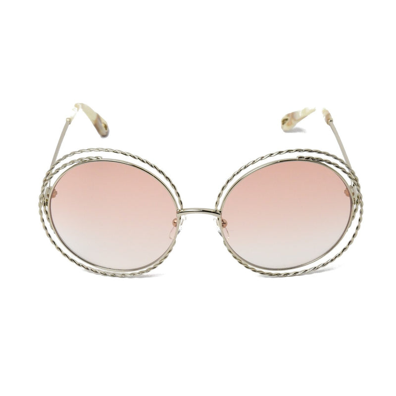 Carlina Torsade Round Sunglasses /Gold-Peach