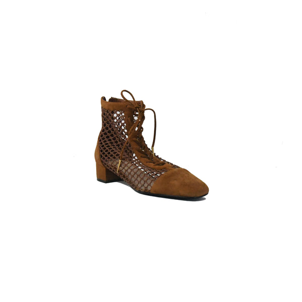 Naughtily-D Suede Resille Boots Golden Brown 30