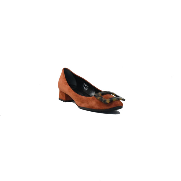 Belle De Nuit Turtle Buckle Heels Golden Brown 35