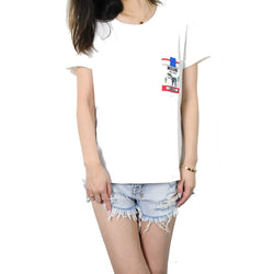 Cotton T-Shirt with Printed Cigarette Box Pocket