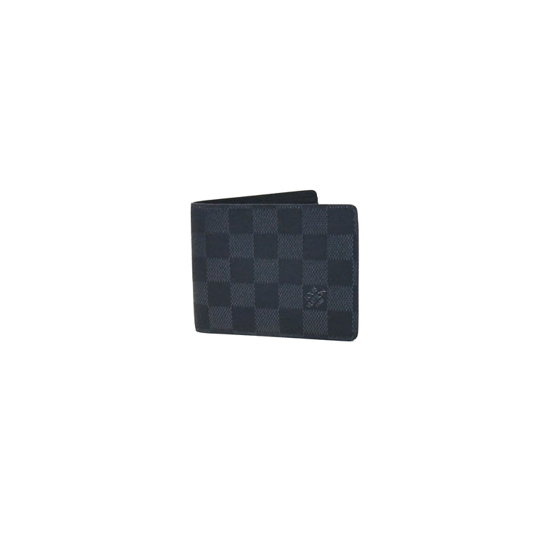 Multiple Wallet Damier Infini Astral Silver Cowhide Leather