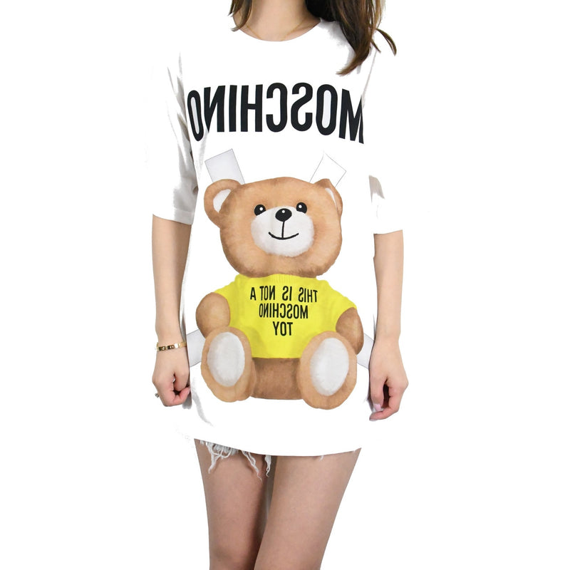 Toy Bear Printed Oversized T-Shirts /Yellow