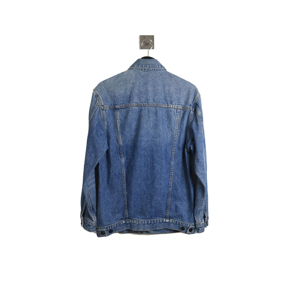 Alexander Wang Aged Denim Jacket Light Indigo