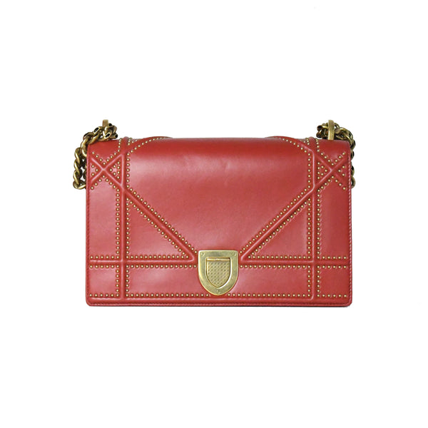 Diorama Bag Gold Hardware Red