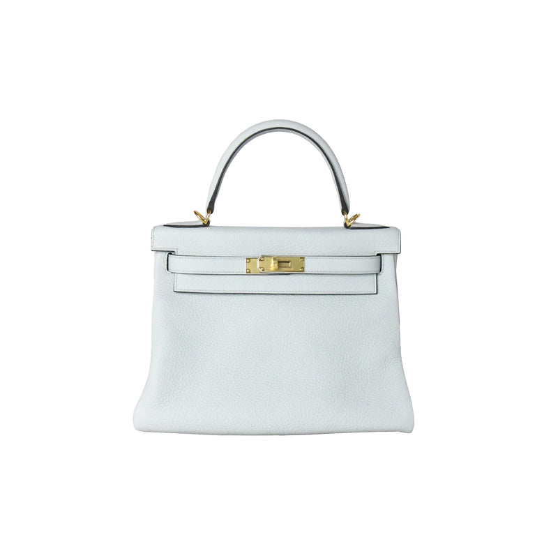 Hermes Kelly 28 Gold HW Pale Blue