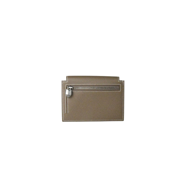 Hermes Kelly Pocket Epsom Compact Wallet Etoupe