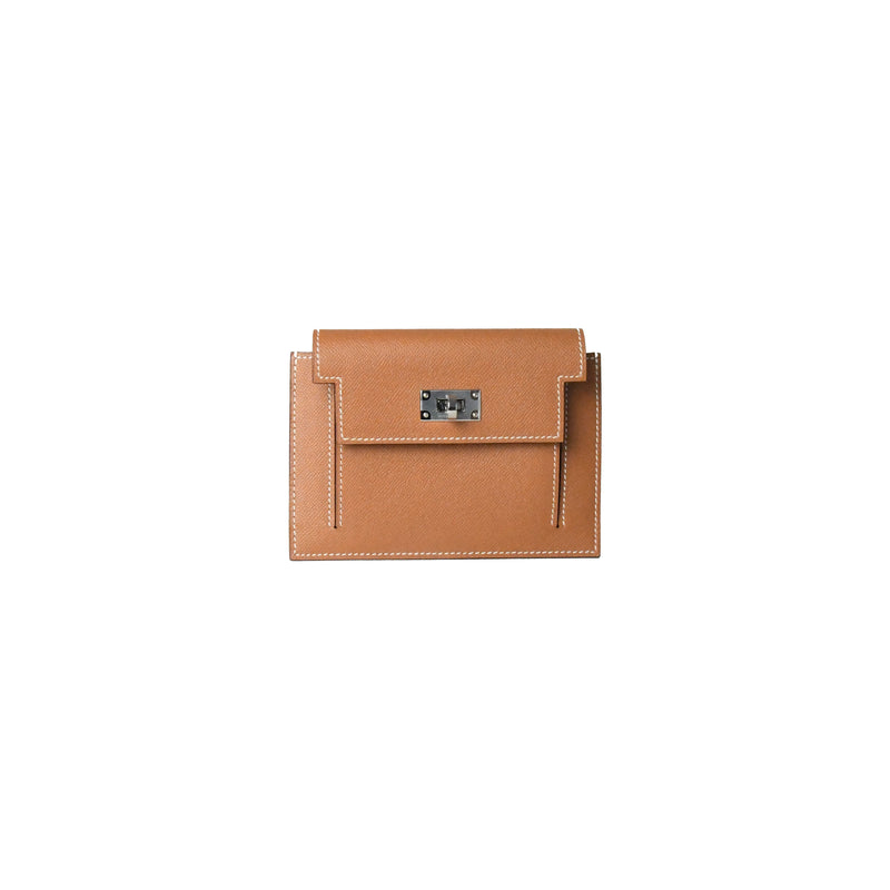 Hermes Kelly Pocket Madame Compact Wallet Gold