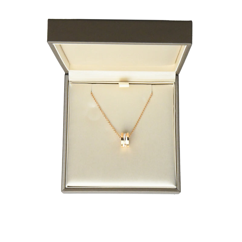 B.Zero1 Necklace Rose Gold with White Ceramic