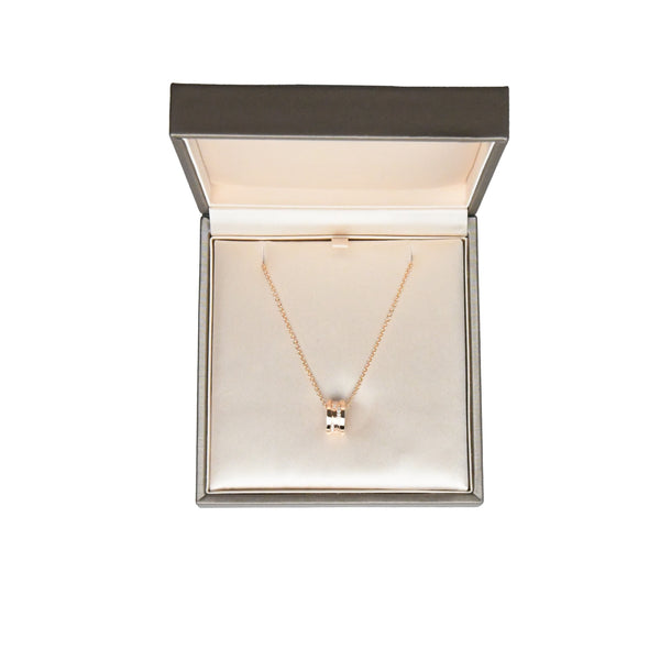 B.Zero1 Necklace Rose Gold with Diamonds