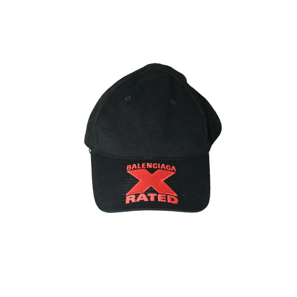 Balenciaga X Rated Hat Black