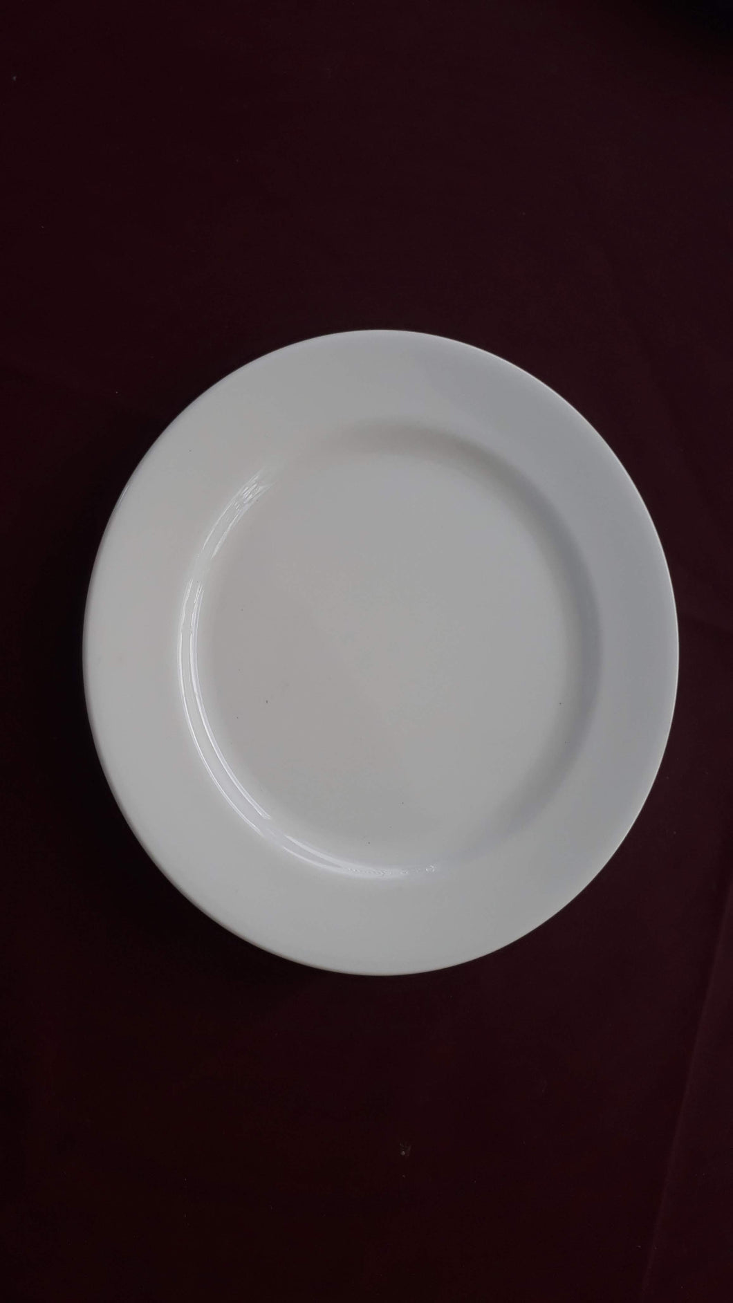 Dessert Plate White Fine Bone China