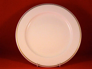 Dinner Plate Gold Band Fine white China