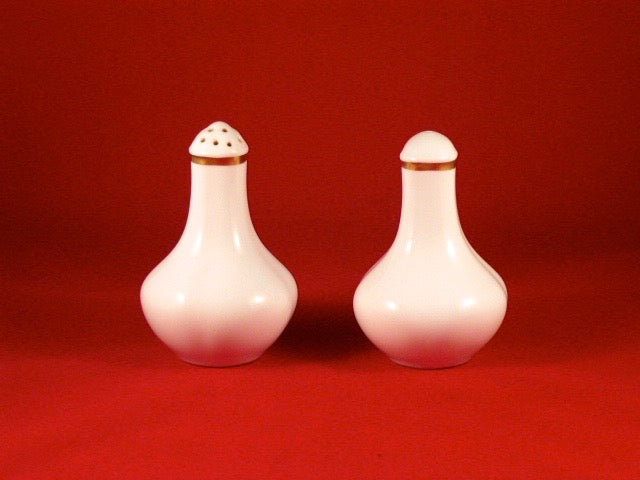 Gold Band  Salt and Pepper Pots