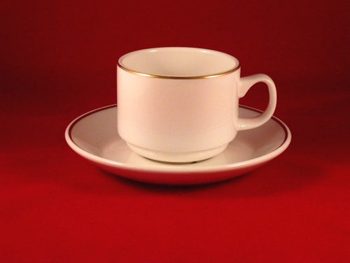 Gold Band Tea Cup with saucer