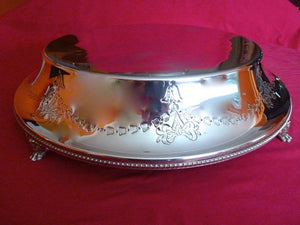 Round Cake Stand (Silver Plate & Knife )