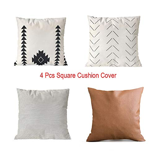 Wotryit Rose Gold Pink Cushion Cover Square Pillowcase Home Decoratio Pack of 4,Decorative Square Throw Pillow Covers Set Cushion Case for Sofa Bedroom Car 18 x 18 Inch 45 x 45 cm