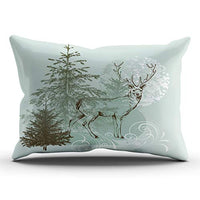AIHUAW Home Decorative Cushion Covers Throw Pillow Case Christmas Deer Cartoon Winter Pillowcases Boudoir 12x18 Inches One Sided Printed (Set of 1)