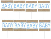 Cakesupplyshop Item#467h - 12pack Its's a Girl Baby Shower Cupcake Decoration Picks (Pink Burlap)