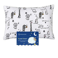 Toddler Kids Pillow with Pillowcase,Soft Organic Cotton Baby Childrens Pillows 13X18 for Girls Boys Sleeping,Washable and Hypoallergenic,Best Kids Gift