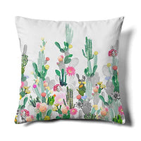 Happy Memories Decor Throw Pillow Cushion Cover, Classic Cashew Floral,Double Leopard,Floral Inspired Design and Cactus, Decorative Square Accent Pillow Case (Black Background Double Leopard) 1PCS