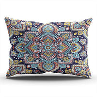 AIHUAW Home Decorative Cushion Covers Throw Pillow Case Ikat Navajo Aztec Ornament Fashion Pillowcases Boudoir 12x18 Inches One Sided Printed (Set of 1)