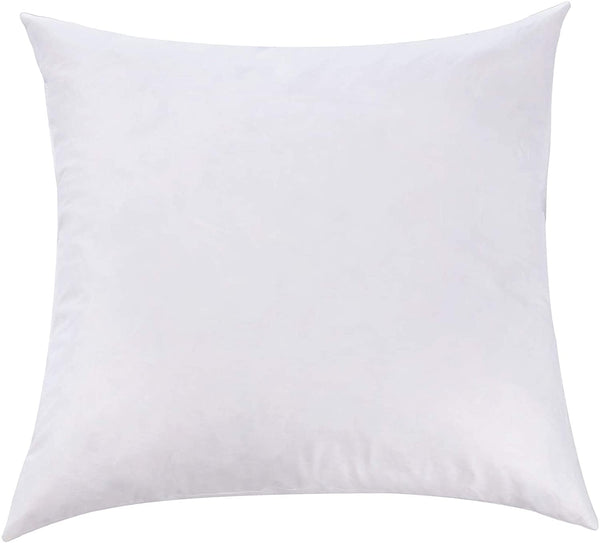 L' COZEE Premium Feather and Down Pillow Insert, Decorative Throw Stuffer Inserts, Hypoallergenic, Cotton Cover, White (14x14)
