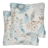Mika Home Pack of 2 Decorative Throw Pillows Cases Cushion Cover for Sofa Couch Bed,Sunflower Pattern,20x20 Inches,Green Cream