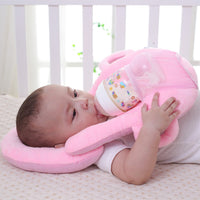 Baby Portable Detachable Feeding Pillows Self-Feeding Support Baby Cushion Pillow (Pink)
