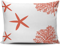 XIUBA Pillowcases Coral Reef and Starfish Customizable Cushion Decorative Rectangle 12X20 inch Boudoir Size Throw Pillow Cover Case Hidden Zipper One Sided Design Printed